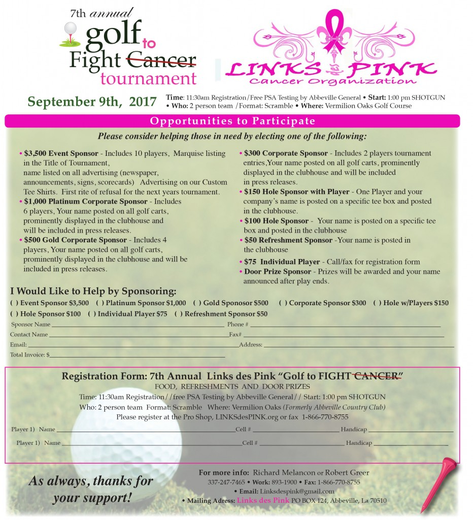 Links de Pink 7th Annual Golf to Fight Cancer